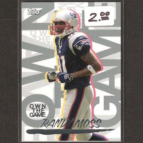 RANDY MOSS 2008 Topps Own the Game - Patriots, Titans & Marshall