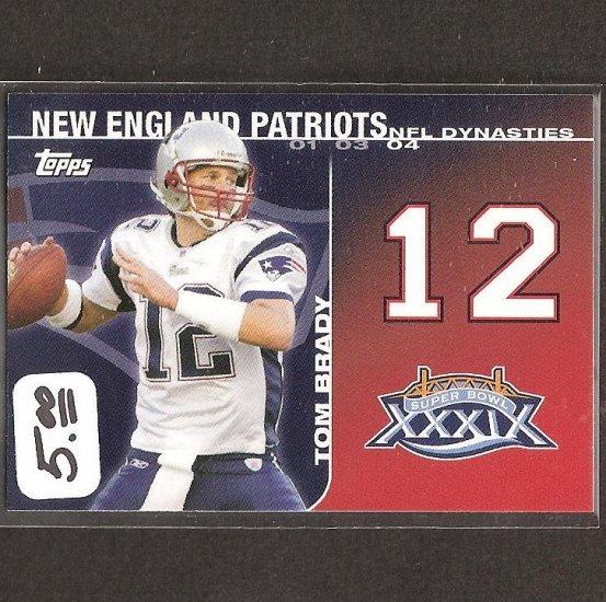 TOM BRADY 2008 Topps Dynasties - New England Patriots & Michigan Wolverines