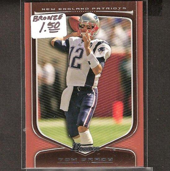 TOM BRADY 2009 Bowman Bronze - New England Patriots & Michigan Wolverines
