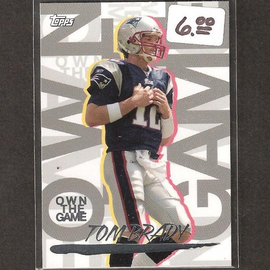 TOM BRADY 2008 Topps Own the Game - New England Patriots & Michigan Wolverines