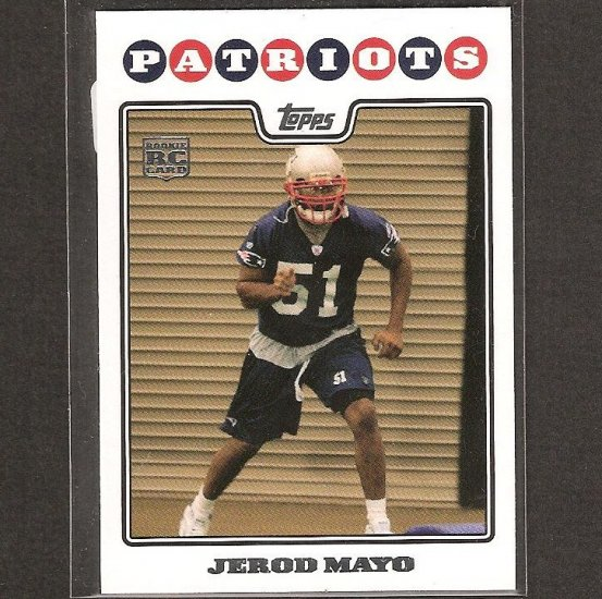 JEROD MAYO - 2008 Topps Rookie - Patriots & Tennessee Volunteers