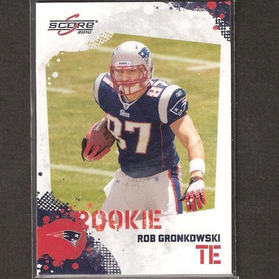 ROB GRONKOWSKI - 2010 Score GLOSSY Rookie - Patriots & Arizona Wildcats