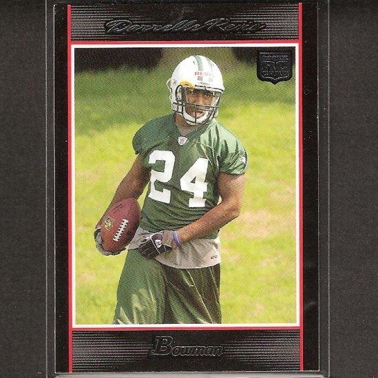 DARRELLE REVIS - 2007 Bowman Rookie - Patriots, Jets & Pitt Panthers