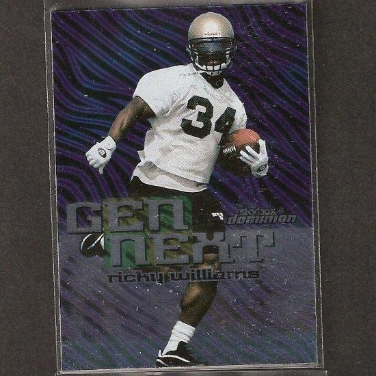 RICKY WILLIAMS - 1999 Skybox Dominion Gen Next Rookie - Dolphins & Texas Longhorns