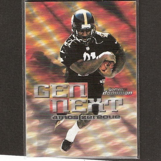 AMOS ZEREOUE - 1999 Skybox Dominion Gen Next Warp Tek Rookie - Steelers & West Virginia Mountaineers