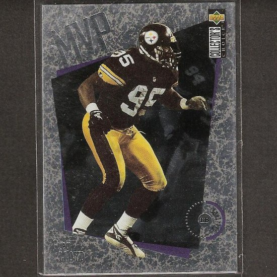 GREG LLYOD - 1996 Collector's Choice MVP Silver - Pittsburgh Steelers