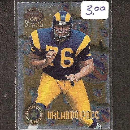 ORLANDO PACE- 1997 Topps Stars Future Pro Bowlers Rookie - Rams & Ohio State Buckeyes