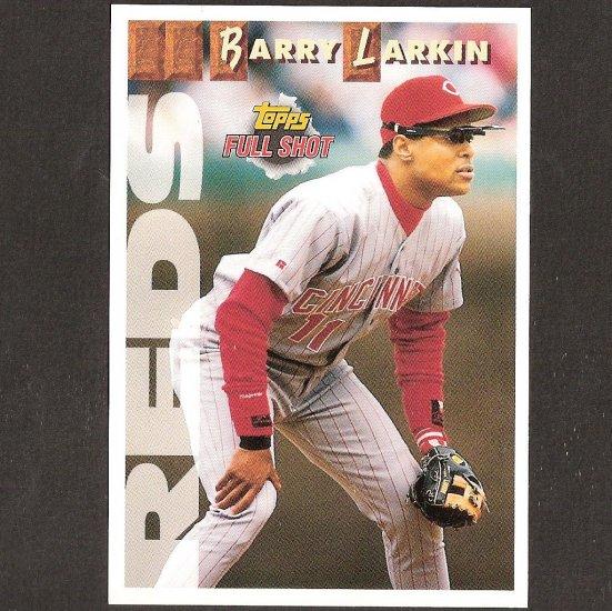 BARRY LARKIN 1993 Topps Full Shot OVERSIZE - Box Topper - Cincinnati Reds