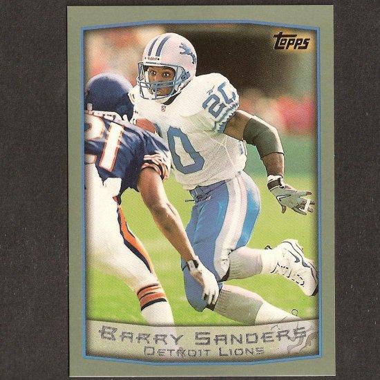 BARRY SANDERS 1999 Topps OVERSIZE - Box Topper - Detroit Lions & Oklahoma State