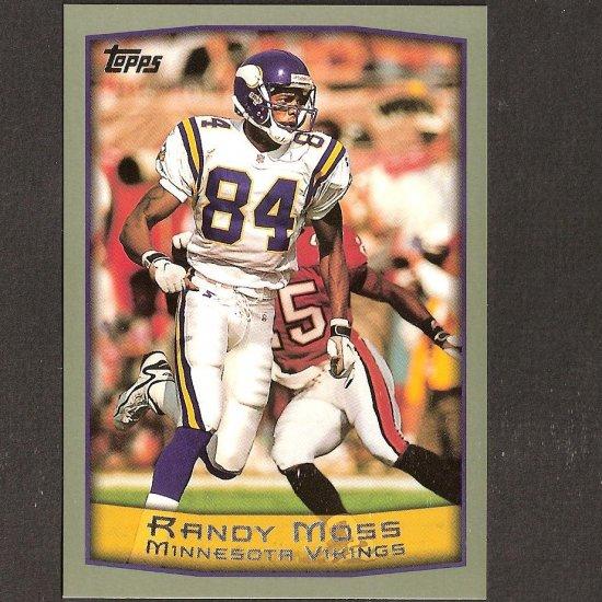 RANDY MOSS 1999 Topps OVERSIZE - Box Topper - Vikings & Tennessee Titans