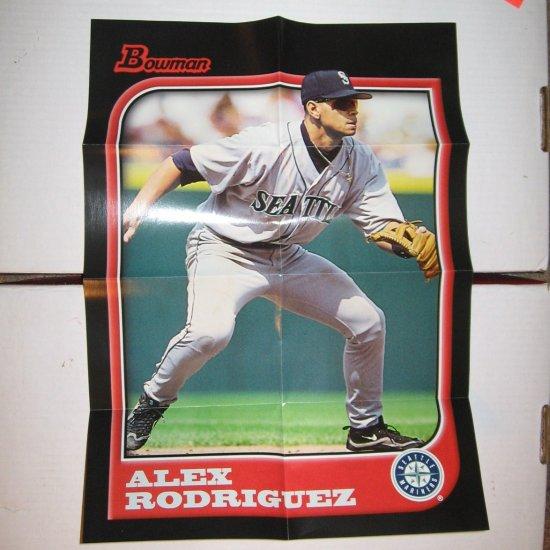 ALEX RODRIGUEZ 2005 Bowman Throwback Posters 1997 - Mariners & Yankees