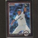 YOVANI GALLARDO - 2010 Bowman Chrome REFRACTOR - Milwaukee Brewers