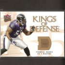 TERRELL SUGGS 2006 Ultra Kings of Defense - Ravens & Arizona State Sun Devils