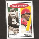 CHARLEY TRIPPI & MICHAEL VICK - 2006 Topps Heritage Then & Now - Cardinals & Eagles