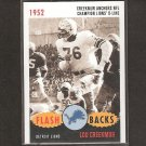 LOU CREEKMUR 2006 Topps Heritage Flashbacks - Detriot Lions