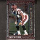 TAKEO SPIKES - 1999 Bowman Chrome GOLD - Bengals & Auburn Tigers