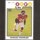 JAMAAL CHARLES - 2008 Topps Rookie - Chiefs & Texas Longhorns