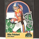 MIKE PRITCHARD 1996 Playoff Prime X's & O's - Broncos & Colorado Buffaloes