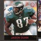 JASON DUNN - 1997 Fleer Goudey Gridiron Greats Parallel - Eagles & Eastern Kentucky