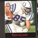 KEN DILGER - 1997 Fleer Goudey Gridiron Greats Parallel - Colts & Illinois Fighting Illini