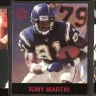 TONY MARTIN - 1997 Fleer Goudey Gridiron Greats Parallel - Chargers & Mesa State