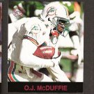 O.J. McDUFFIE - 1997 Fleer Goudey Gridiron Greats Parallel - Dolphins & Penn State