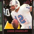 CHRIS CHANDLER - 1997 Fleer Goudey Gridiron Greats Parallel - Oilers & Washington Huskies