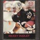 RICKEY DUDLEY - 1997 Fleer Goudey Gridiron Greats Parallel - Raiders & Ohio State Buckeyes