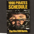 Pittsburgh Pirates 1990 Pocket Schedule - Mike Lavalier