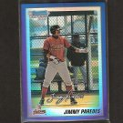 JIMMY PAREDES - 2010 Bowman Chrome BLUE Refractor RC - Houston Astros