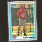 JEREMY BARNES - 2010 Bowman Chrome Refractor RC - Philadelphia Phillies