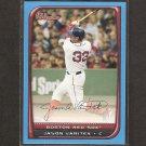 JASON VARITEK - 2008 Bowman BLUE - Boston Red Sox - #ed 131/500