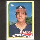 JOHN SMOLTZ - 1989 Topps ROOKIE - Cardinals, Braves