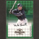 MIKE LOWELL - 1998 Donruss Signature ROOKIE AUTOGRAPH Millenium Marks - Boston Red Sox