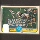 ROGER STAUBACH & TONY DORSETT - 1981 Fleer Team Action Football Super Bowl XIII - Dallas Cowboys