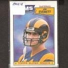 JIM EVERETT - 1987 Topps ROOKIE -Rams & Purdue Boilermakers