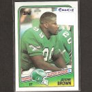 JEROME BROWN - 1988 Topps ROOKIE -Eagles & Miami Hurricanes
