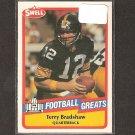 TERRY BRADSHAW - 1989 SWELL Football Greats - Steelers & Louisiana Tech