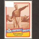 EARL LAMBEAU - 1989 SWELL Football Greats - Packers & Notre Dame