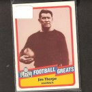 JIM THORPE - 1989 SWELL Football Greats - Canton Bulldogs