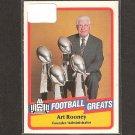 ART ROONEY - 1989 SWELL Football Greats - Steelers & Georgetown
