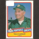 VINCE LOMBARDI - 1989 SWELL Football Greats - Packers & Fordham University