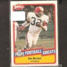 JIM BROWN - 1989 SWELL Football Greats - Cleveland Brown & Syracuse Orangemen