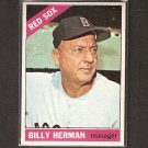 BILLY HERMAN 1966 Topps - Boston Red Sox - Near Mint