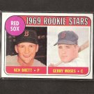 KEN BRETT & GERRY MOSES 1969 Topps - Boston Red Sox Rookies