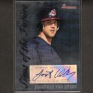 JONATHAN VAN EVERY - 2007 Bowman Signs fo the Future Rookie Autograph - Nationals, Red Sox & Indians