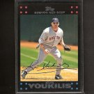 KEVIN YOUKILIS 2007 Topps Red Ink on Back Letters - Red Sox, White Sox