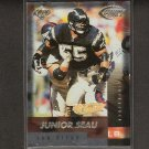 JUNIOR SEAU - 1999 Collector's Edge Fury Gold Ingot Millenium Collection - Chargers & USC Trojans