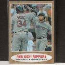 DAVID ORTIZ & DUSTIN PEDROIA 2011 Topps Heritage Chrome Refractor - Boston Red Sox