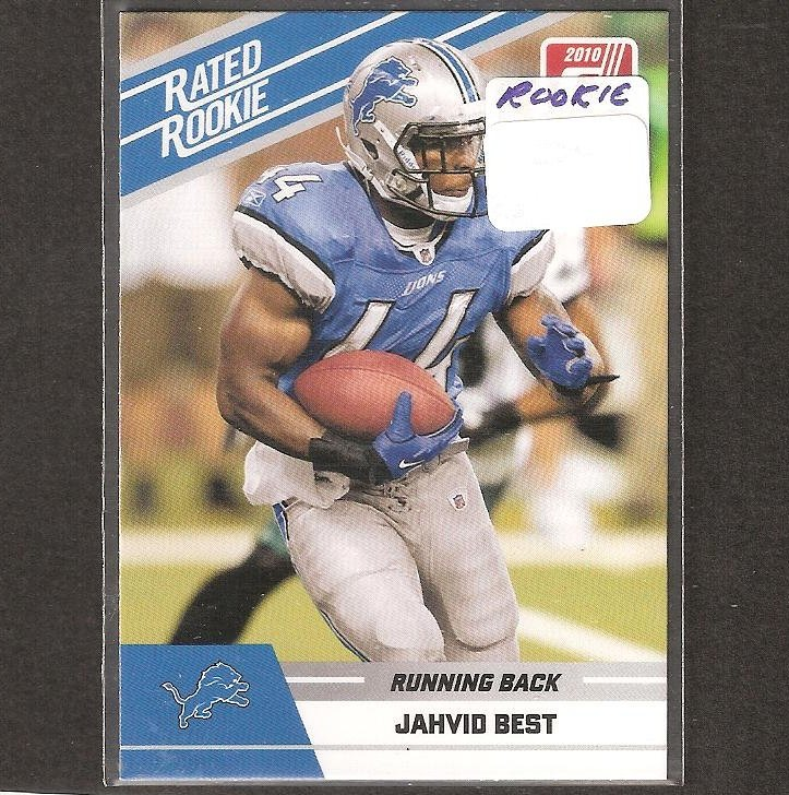 JAHVID BEST - 2010 Donruss Rate Rookie Card - Detroit Lions & Cal Golden Bears